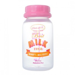 Autumnz Breastmilk Storage Bottles - Pink Best Milk Ever - (10 bottles)