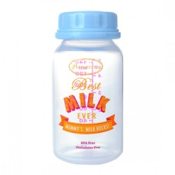 Autumnz Breastmilk Storage Bottles - Baby Blue Best Milk Ever - (4 bottles)