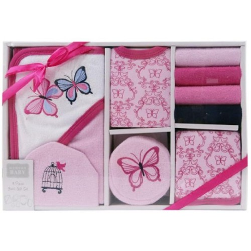 Hudson Baby 9-Piece Bath Time Gift Set - Butterfly