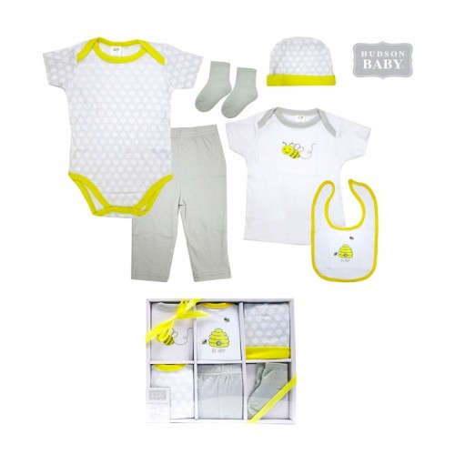 Hudson Baby Newborn 6-Pieces Clothing Gift Set - Bee