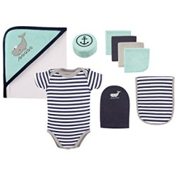 Hudson Baby 9-Piece Bath Time Gift Set - Whale