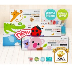K-MOM Antibacteria Zipper Bag 15pcs (M Size)