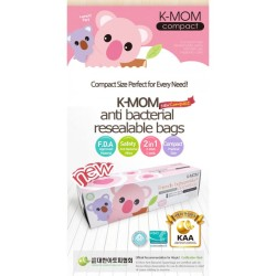 K-MOM Antibacteria Zipper Bag 30pcs (Compact)