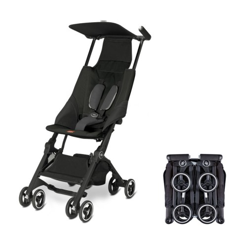 gb Pockit Compact Stroller Black